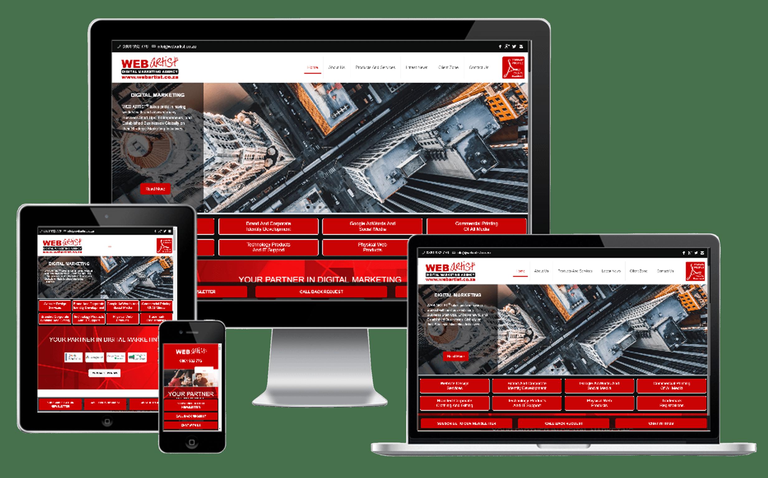 Responsive Website Design, Maintenance And Hosting, WEB ARTIST® Digital Marketing Agency
